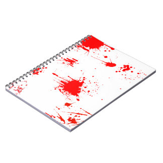 Bloody Notepad Spiral Notebook