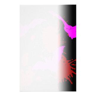 Bloody Pink Bats Splatter Horror Stationery