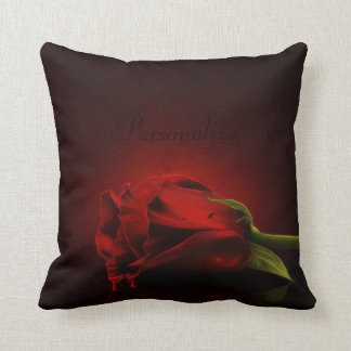 Bloody Red Rose Personalized Throw Pillow