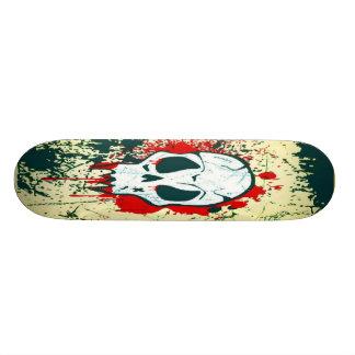 Bloody Red Skull Skateboard