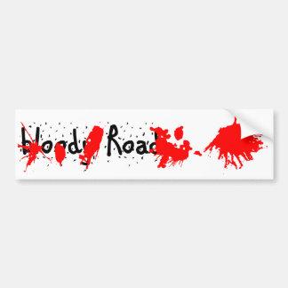 bloody road bumper sticker car bumper sticker