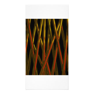 BLOODY RODS ABSTRACT BY VALXART.COM PERSONALIZED PHOTO CARD