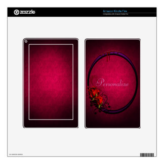 Bloody Rose & Frame Personalized Kindle Skin