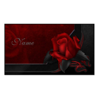 Bloody Rose - Gothic Design Double-Sided Standard Business Cards (Pack Of 100)