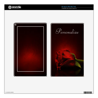 Bloody Rose Personalized Kindle Skin