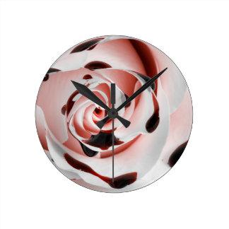 Bloody Rose Round Clock