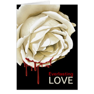 Bloody rose stationery note card