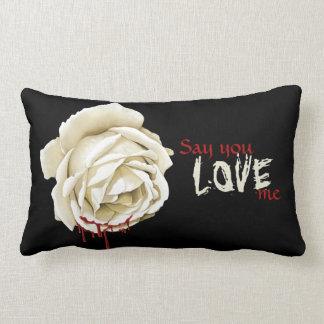 Bloody rose throw pillow