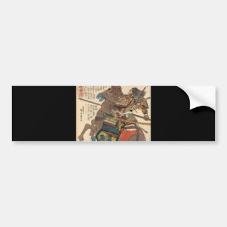 Bloody Samurai in Full Armor on a Horse c.1848 Car Bumper Sticker