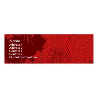 Bloody Scales Double-Sided Mini Business Cards (Pack Of 20)
