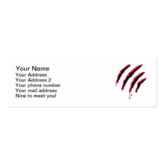Bloody scratch business card template