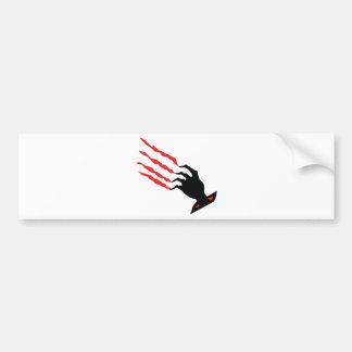 bloody Scratch hand Bumper Sticker
