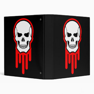 Bloody Skull 3 Ring Binder