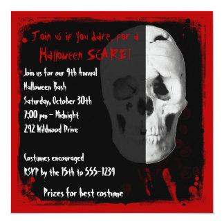 Bloody Skull Adult Halloween Party Invitation