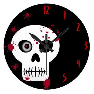 Bloody Skull Large Clock
