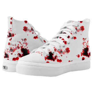 bloody sneakers shoes