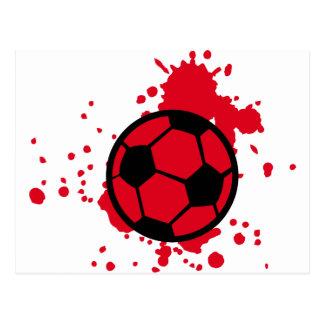 Bloody soccer ball postcard