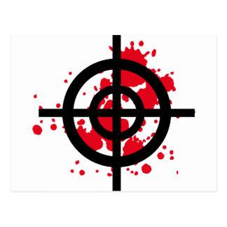 bloody target sniper postcard
