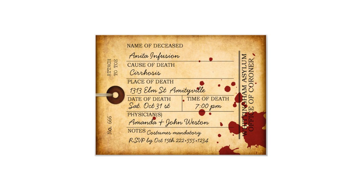 Save The Date Halloween Party