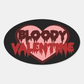 Bloody Valentine Oval Sticker