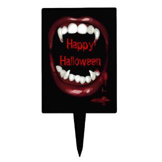 bloody Vampire Fangs halloween Cake Topper