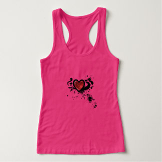 Bloody wink heart tank top