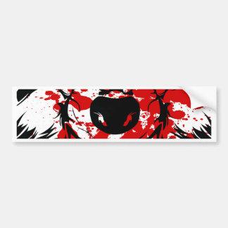 Bloody Wolf Car Bumper Sticker
