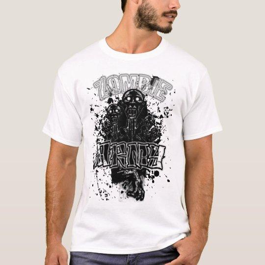 Bloody Zombie Army B&W T-Shirt