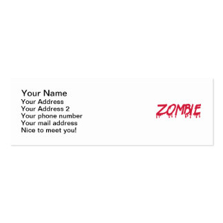 Bloody zombie business card