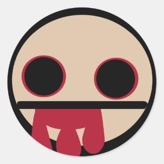 Bloody Zombie Classic Round Sticker
