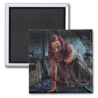 Bloody Zombie Girl Magnet