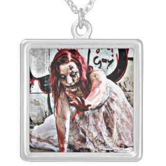 Bloody Zombie Girl, Zombie Apocalypse Necklace