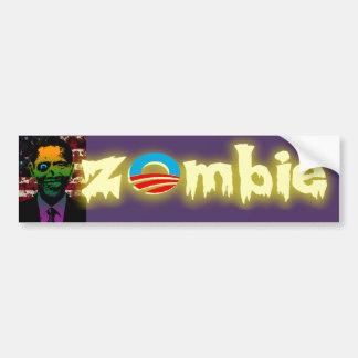 Bloody Zombie Obama Car Bumper Sticker
