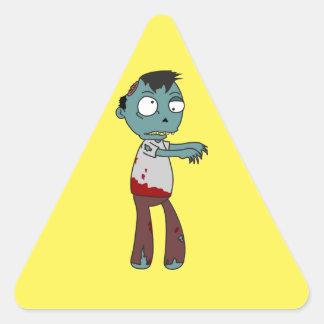 Bloody Zombie Triangle Sticker