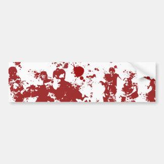 Bloody Zombies Car Bumper Sticker