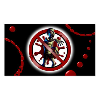 Bloody Zombies Double-Sided Standard Business Cards (Pack Of 100)