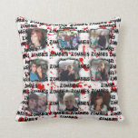Bloody Zombies Frame Add Photos Instagram Collage Throw Pillows