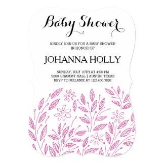 bloom baby shower card