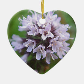 Bloom ball with tender purple blooms ceramic ornament