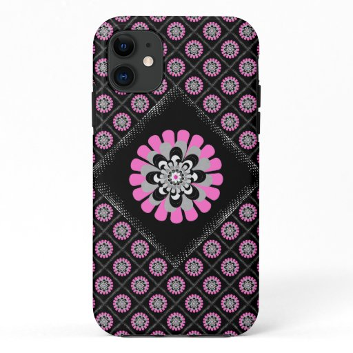 Bloom Blush Diagonal Patchwork iPhone 11 Case