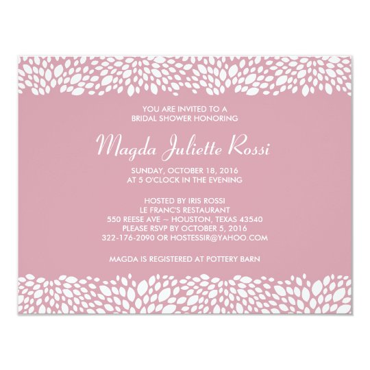 Bloom Customizable Bridal Shower Invitation