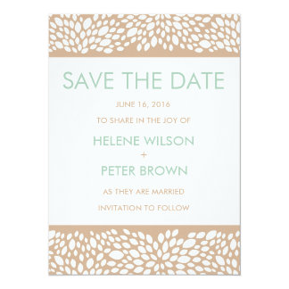 """Bloom Customizable Save The Date Card in Cashmere 5.5"""" X 7.5"""" Invitation Card"""