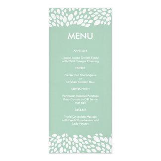 Bloom Customizable Wedding Menu in Gum Leaf 4x9.25 Paper Invitation Card