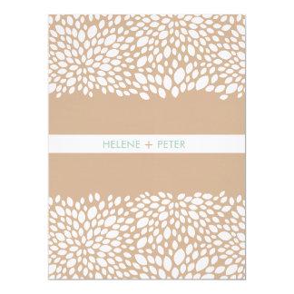 Bloom Customizable Wedding Program in Cashmere 6.5x8.75 Paper Invitation Card