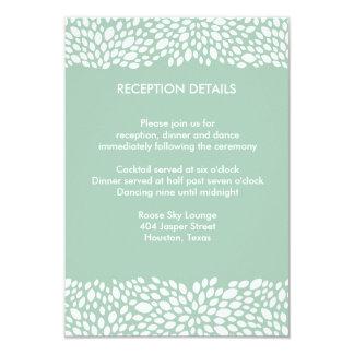 Bloom Customizable Wedding Reception/Direction 3.5x5 Paper Invitation Card