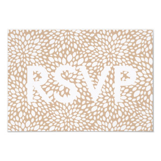 Bloom Customizable Wedding RSVP in Cashmere 3.5x5 Paper Invitation Card
