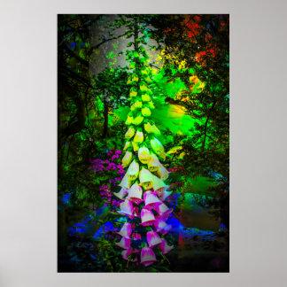 Bloom dreams bellflower poster