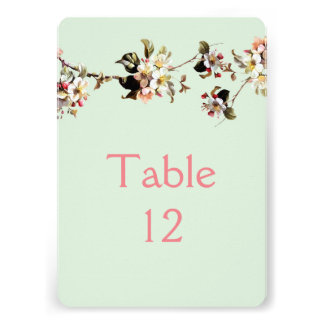 Bloom Floral Branches Table card