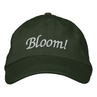 Bloom! Gardener's Hat Embroidered Baseball Cap