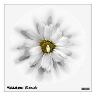 bloom in shades of white wall sticker